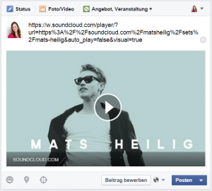 soundcloud auf facebook