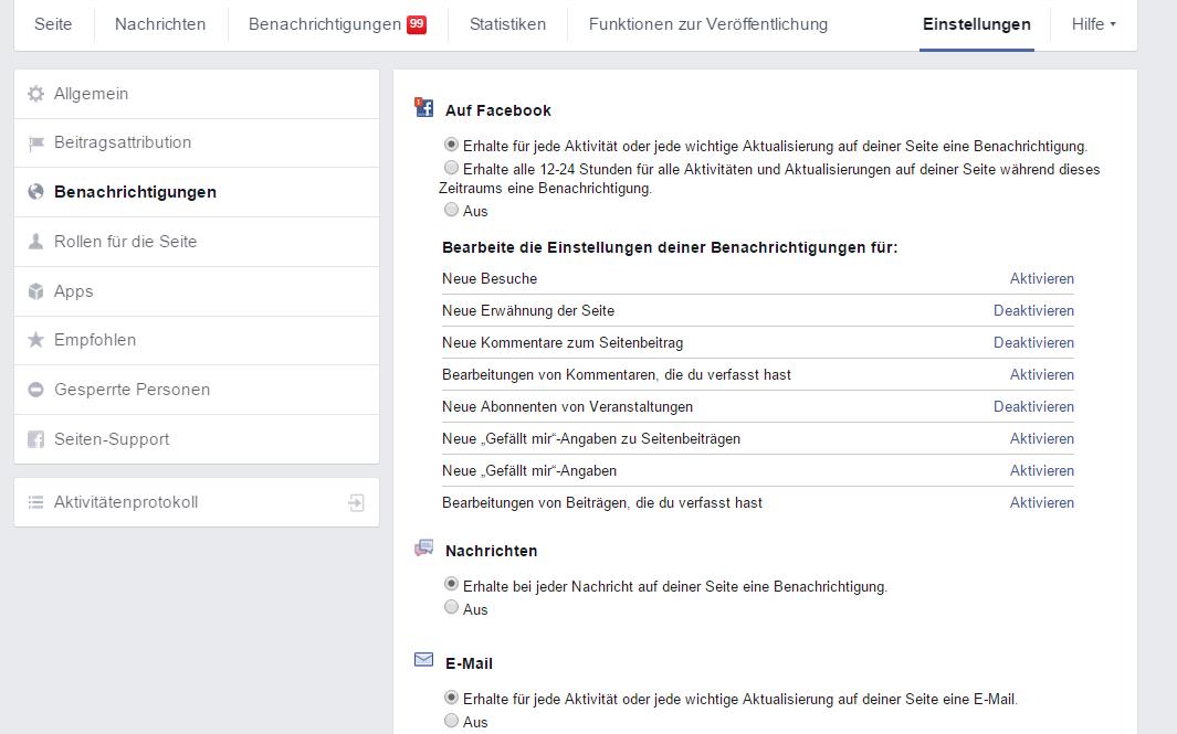 Facebook Benachrichtigungen Abschalten