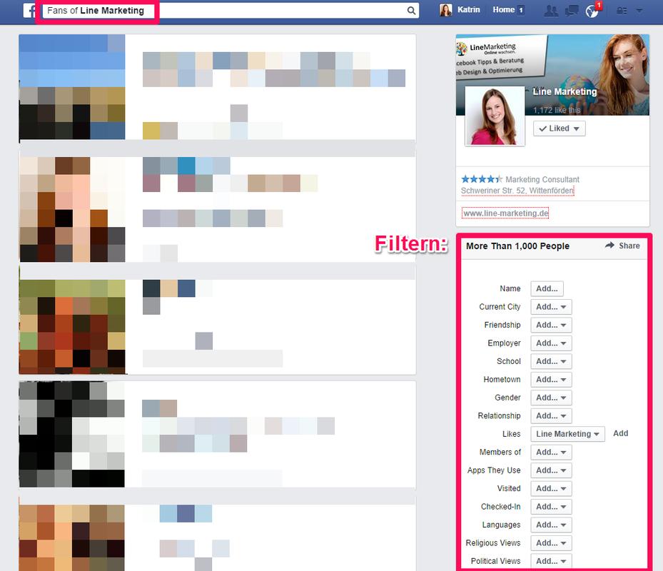 Open Graph Suche und Filtermöglichkeiten