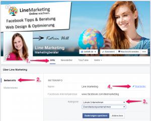Facebook Seitennamen ändern