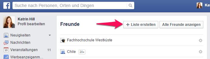 Facebook Listen Erstellen