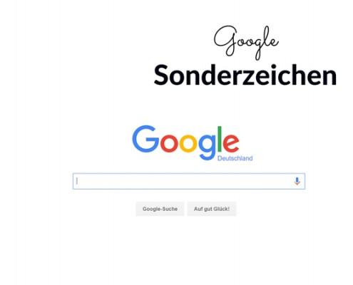 google sonderzeichen