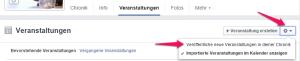 facebook veranstaltungen