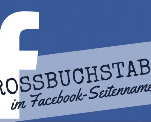 Großbuchstaben im Facebook-Seitennamen