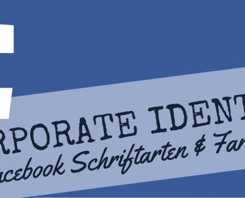 Facebook Logo Schriftart & Farbenmix