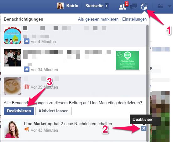 facebook benachrichtigungen wieder anzeigen