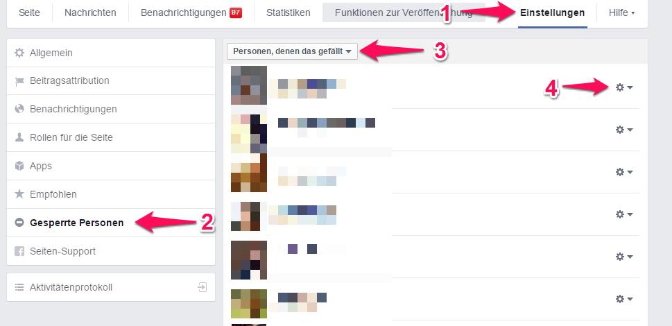 blockierte personen facebook