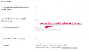 facebook id admin