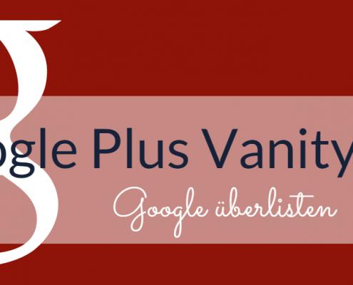 google plus benutzerdefinierte URL