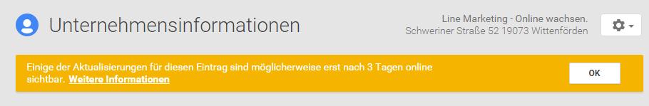 hinweis google+