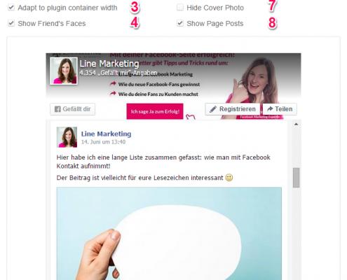 Facebook Page Plugin in Webseite einbinden