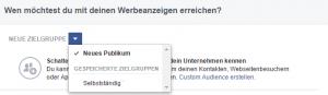 zielgruppe werbeanzeige Facebook