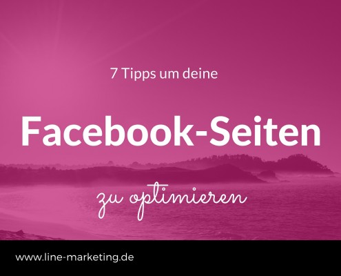 Facebook-Seiten optimieren