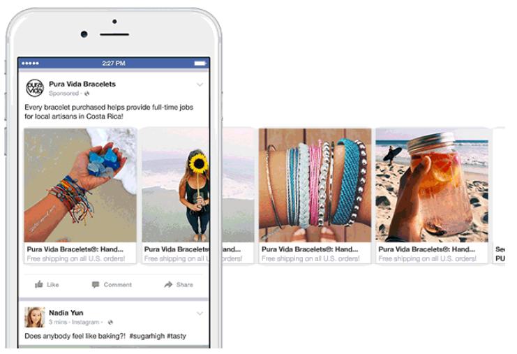 5 karussell Anzeige auf Facebook