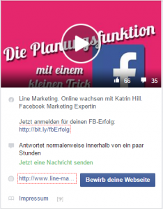 Facebook-Info: andere Kategorie