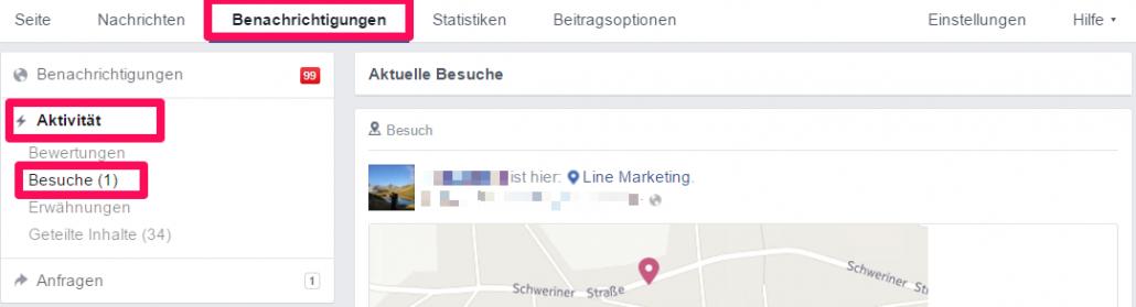 Facebook Besuche anzeigen lassen