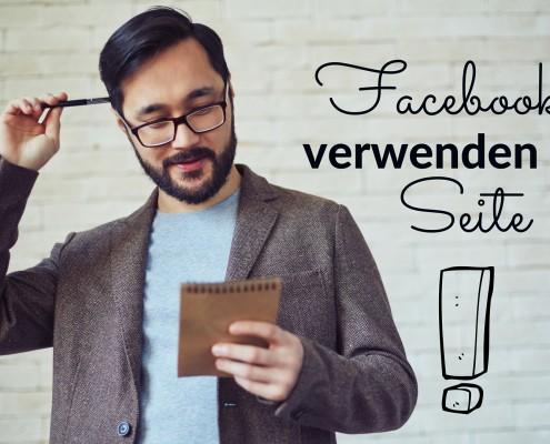 Facebook verwenden als Seite