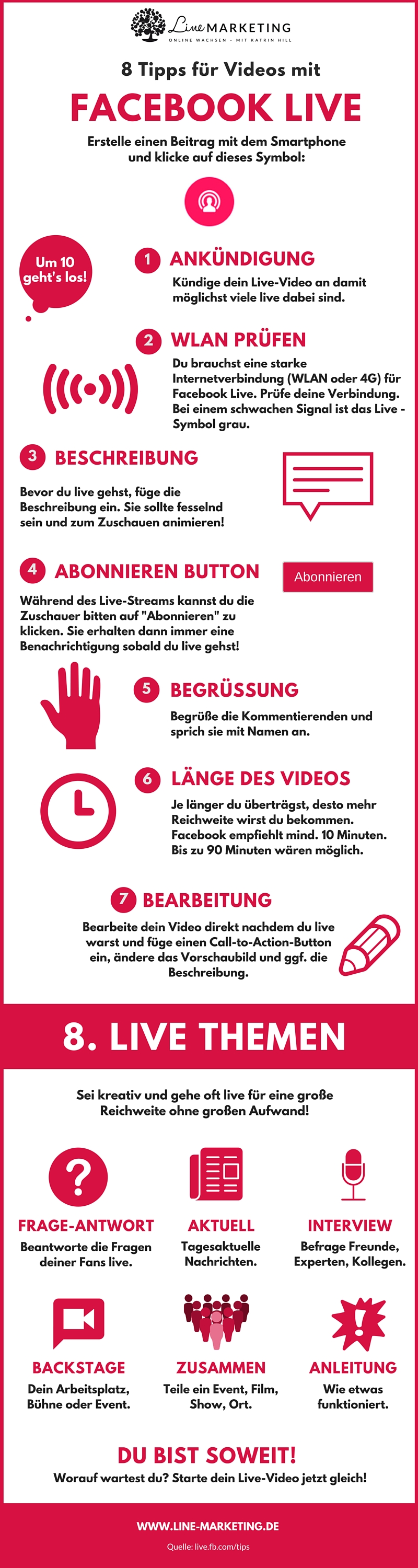 Facebook Live Video Infografik