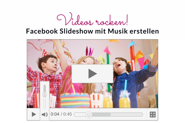 how to make a slideshow on facebook with music