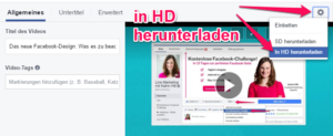 Facebook video herunterladen