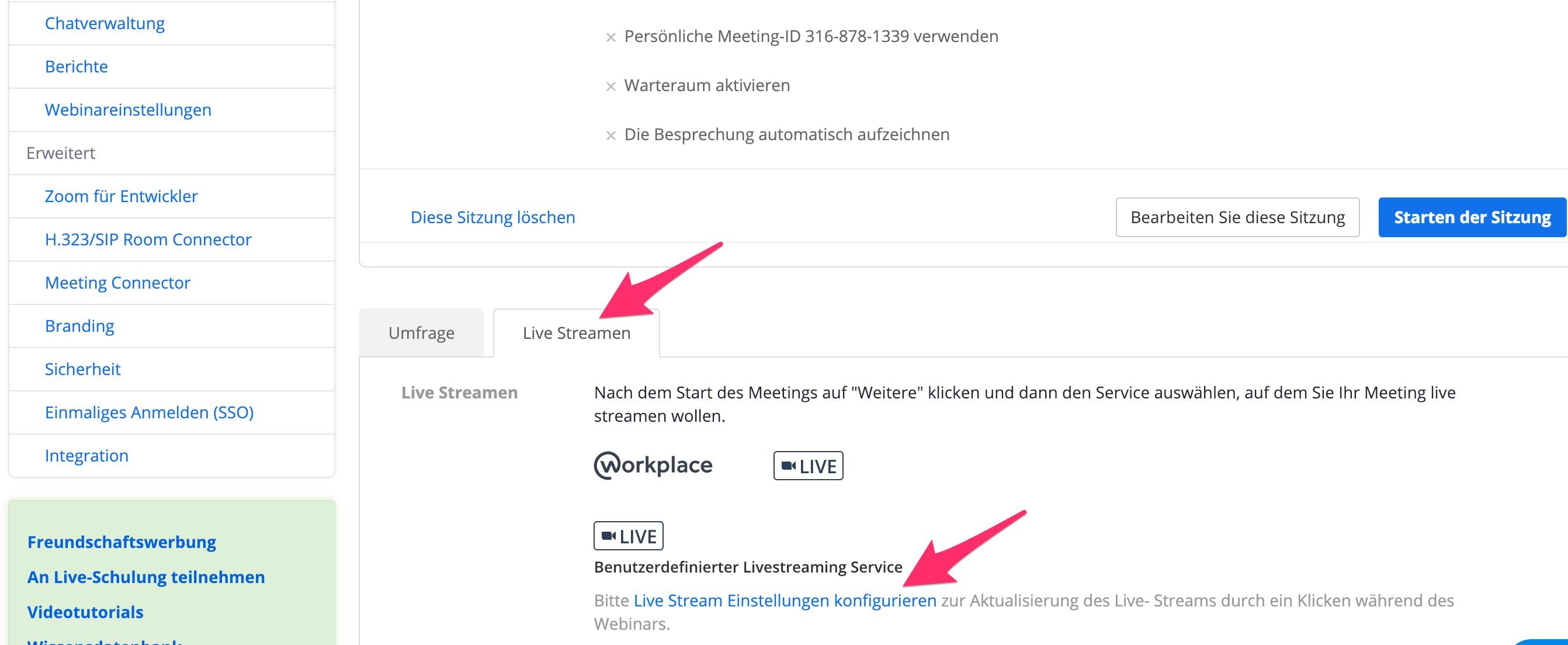Aktualisiert: Facebook Live Stream mit Zoom Meeting - Katrin