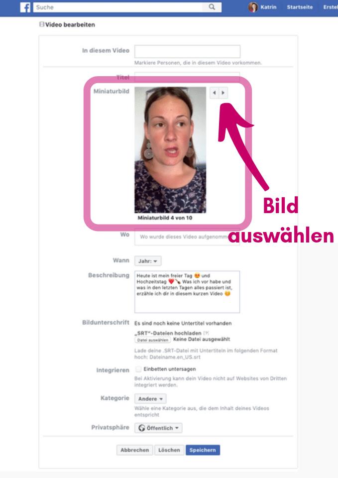 Facebook Bild ändern